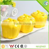 Dinnerware Fruit Shape Yellow Ceramic Sugar Container                                                                         Quality Choice