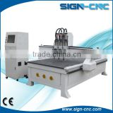 1325 Simple Auto-tool Changing Wood CNC Router, multi spindles cnc engraving machine