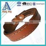 Brown Leather Durable Dog Collar and Leash