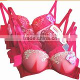 2014 hot selling new design lady's cotton fashion solid Stock push up bra                                                                         Quality Choice