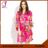 FUNG 3002 New Flower Silky Satin Cheap Silk Robes For Bridesmaids