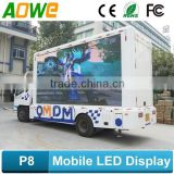 AOWE P6, P8, P10 full color truck mobile advertising led display,truck mounted led display, led truck trailer billboard