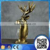 Wholesale primitive loverly resin deer head statue christmas ornaments home decor                                                                                                         Supplier's Choice