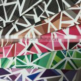 With film emboss surface ,PVC simili leather with geometric figure design , use for sofa ,chair cover ,handbags,upholstery