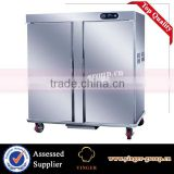 commercial kitchen equipment Stainless Steel double Door portable electric buffet food warmer cart