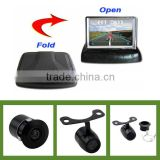 Autosenda car security camera system with 3.5inch folding monitor