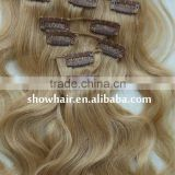 Cheap full head cheap colored clip hair extensions afro kinky curly clip in hair extensions