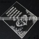 china wholesale new silk high grade acrylic invitation