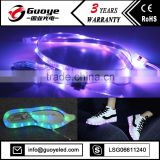 led light shoes with RGB color shoe laces string lights
