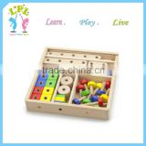 Factory hot offer high quality Construction sets hand and eye cooperation wooden toys
