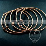 65mm diameter copper red brass simple adjustable wiring bracelet for beading DIY jewelry supplies 1900045