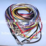 Popular leather cord necklace with clasps LC0022