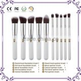Wholesale 10pcs per set antimi crobial synthetic hair wood handle gold series cosmetic makeup brush set for women