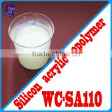 WC-SA110 Silicon Acrylic Polymer Emulsion for top coatings