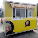 China made free design juice kiosk mobile brand new mini tractor trailer truck semi-trailer food truck