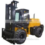 China New Rough Terrain Forklift 4 Wheel Drive for Sale, Cab Heat Camera/3 Stage Mast/ Side Shifter /Comins Engine