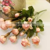 High quality autumn scenery natural artificial Lotus buds rose flower bunches wholesle flower