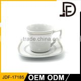 Wholesale cappuccino / espresso / coffee / tea drinking cups set, cafe cup and saucer