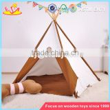 wholesale portable children house play tents for kids natural cotton indoor play tents for kids W08L006