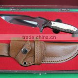 OEM imported quality best hunting knife collection with bone handle