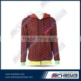 Gym Custom zipper hooded sweatshirt sublimated active men's polyester zipper hoody print oversize pullover sweaters