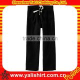 Custom latest style cheap comfortable plain loose elastic waist 100% polyester sweat pants