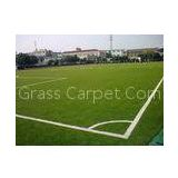 Eco-Friendly Football Artificial Grass Lawn 25mm, 9000dtex Green PE Synthetic Soccer Grass
