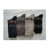Fashionable Jacquard Soft Mens Wool Socks Anti Slip For Sports