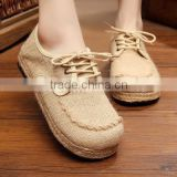 Handmade straw sandals The new flax straw rope tie a fisherman shoes, canvas shoes