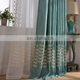 Handing feeling Softness polyester cottoned mixed Gauze fabric with hand embroidered curtain
