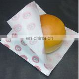 Square disposable grease proof wax safe food colorful printing wrapping paper for hamburger