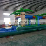 Top quality Jungle inflatable water slideway with pool