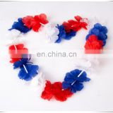 Word Cup Football Fan Flower Garland Lei France Team Polyeste Flower Leis