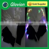Hot sale christmas party LED flashing light led magic gloves light-up gloves