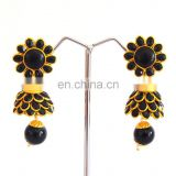Wholesale Imitation pachi jhumka earrings -Traditional South indian pachi jhumkas -South indian pachi jhumka earring