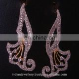 CZ chandelier earrings jewelry manufacturer, CZ drop earring jewellery exporter