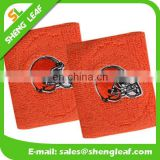 Red wristband embroidered sport cheap sweat band