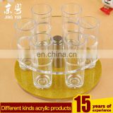 Round led PMMA glass cup display stand plexiglass glass cup display rack acrylic glass cup holder