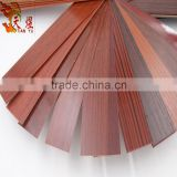 walnut color embossed wood grain melamine laminated pvc furniture edge banding tape edge trim strips