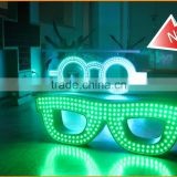 2015 new products optician adversting animated led optical glasses screen, outdoor led glasses sign