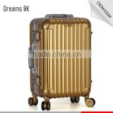 High quality scratch-proof diamond design compass travel trolley luggage bags