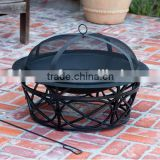 Outdoor Black Fire Pit Table