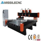 China Jinan 3D Granite , Marble , Tombstone , Stone Used Three Heads CNC Carving Engraver Machine Price