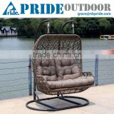 Inquiry about Luxury Outdoor Furniture Double Seat Hanging Indoor Swing Rattan Egg Chair Living Room Swing Chair                        