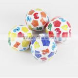 Super light hot seller new safety promotional baby football rubber ball toys