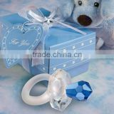 Baby Shower gifts of crystal blue baby pacifier favor