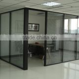 Modern Office Cubicles commercial room dividers exhibition partition glass wall(SZ-WST709)