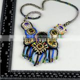 Charm Women Bohemian pattern Vintage multilayer necklace , bohemia style beaded collar fancy necklace