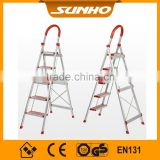 Household Aluminum safety step ladders with handrail