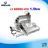 Factory price 6090 cnc wood engraving machine cnc router aluminum with 1.5kw spindle for full assembled